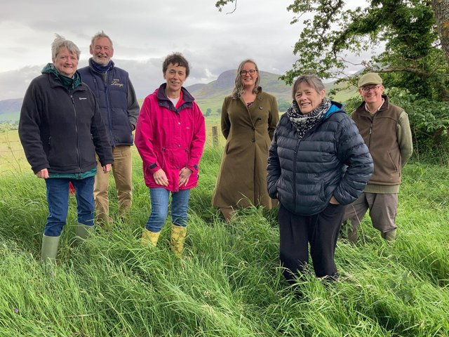 Some members of the project group organising the memorial for the Battle of Littleferry. Left to right - Alison Cameron, Angus McCall, Marion Sutherland, Rosa Cawthorne, Shirley Sutherland, Patrick Marriott.