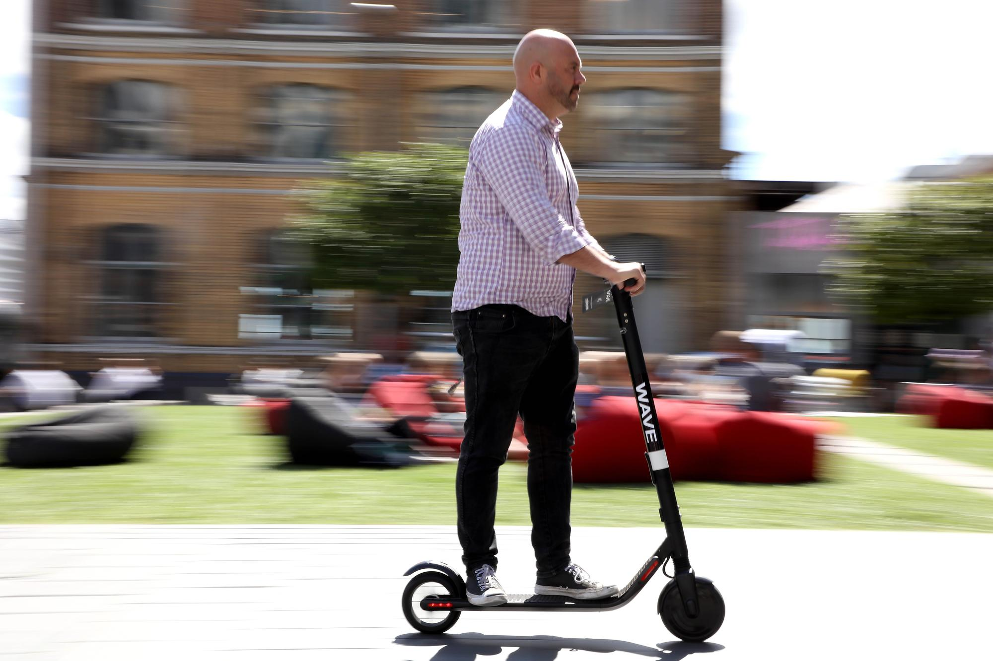 How Dominic West has just killed the e-scooter, the future and my dreams – Aidan Smith