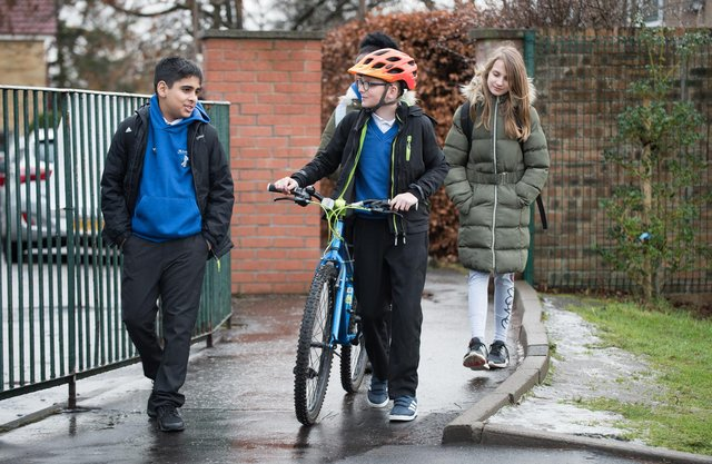 More parents and carers working from home is thought to have boosted walking rates. Picture: Julie Howden/Sustrans Scotland