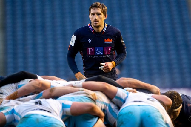 Scrum-half Henry Pyrgos has signed a new contract with Edinburgh. Picture: Ross Parker/SNS