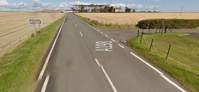 The incidenthappened at around 5pm on Wednesday, June 9 on A198 near Tantallon Castle, North Berwick (Photo: Google Maps).