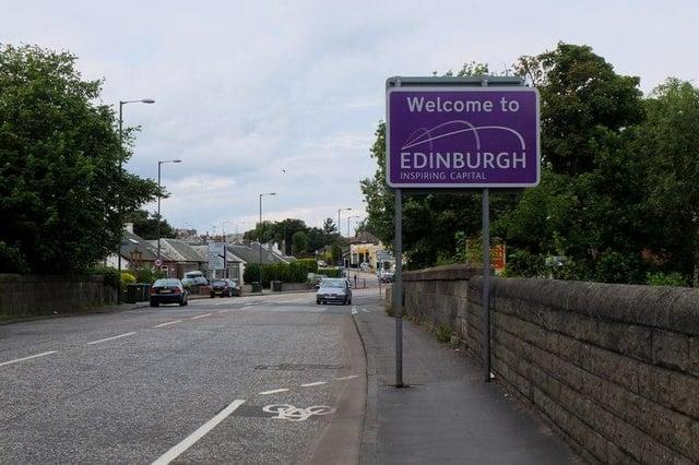 Edinburgh sign in Scotland. Picture: Jim Barton