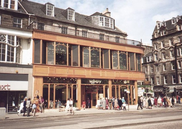 The old Wimpy restaurant on Princes Street. Picture: TSPL