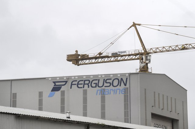 Ferguson Marine's yard at Port Glasgow. Picture: John Devlin
