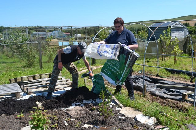 The Abundant Borders charity was set up in 2016 and has been turning unused chunks of unused land into fertile food gardens for the benefit of local communities