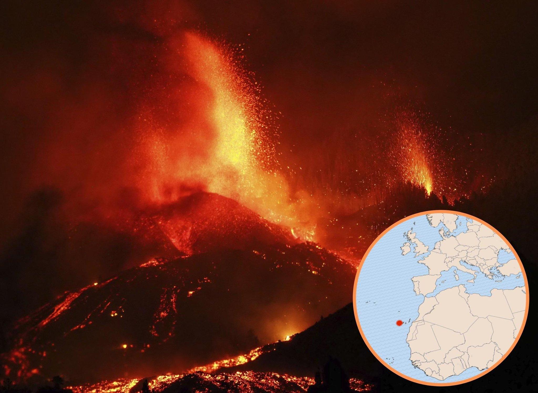Gunung berapi La Palma: Di mana La Palma?  Peta menunjukkan di mana letusan gunung berapi Kepulauan Canary – dan apakah itu akan menyebabkan tsunami?