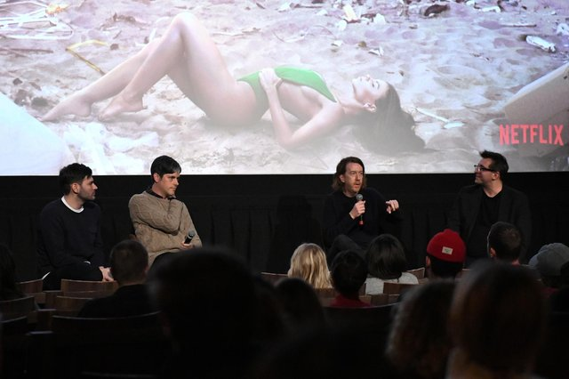 Producers Mick Purzycki and Danny Gabai, director Chris Smith and moderator Joshua Rothkopf discuss Netflix documentary 'Fyre: The Greatest Party That Never Happened' after a screening in New York (Picture: Craig Barritt/Getty Images for Netflix)