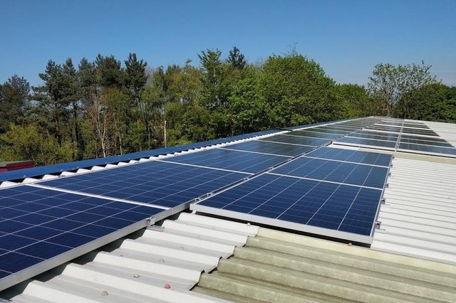 New solar panels at Linlithgow Rugby Club
