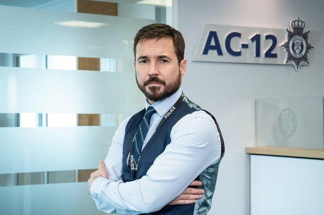 Martin Compston as DS Steve Arnott in the BBC's hit Sunday night drama 'The Line of Duty'.