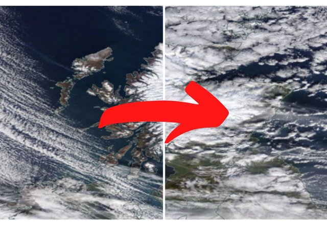 Our interactive map, constructed with NASA satellite imagery, shows Scotland blanketed with snow.