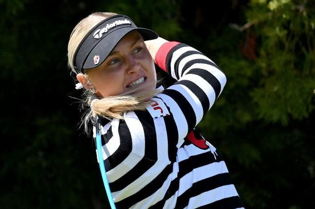 Charley Hull in action during the KIA Classic at Aviara Golf Club in Carlsbad, California, last week. Picture: Donald Miralle/Getty Images.