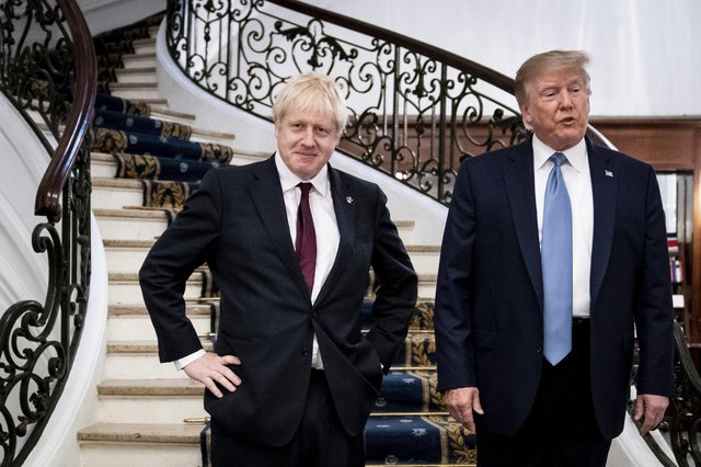 Donald Trump and Boris Johnson, pictured in 2019, both have to accept the outcome of democratic votes (Picture: Erin Schaff/pool via AP)