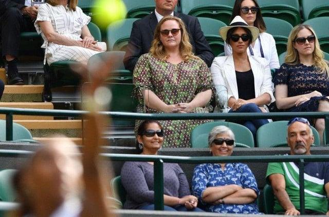 Spectators at a Wimbledon game in 2019.