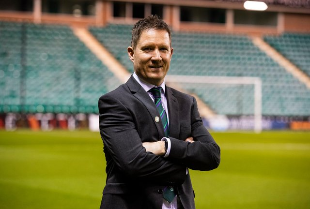 Hibs interim chief executive Greg McEwan