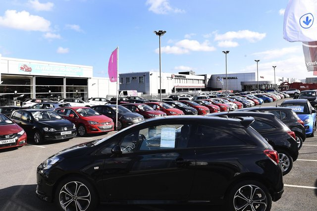 Trade body SMMT said the decline reflected uncertain economic confidence and dealerships in Wales and Scotland remaining closed for much of the month due to the coronavirus lockdown. Picture: Lisa Ferguson