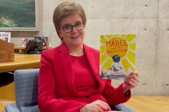 Nicola Sturgeon has recorded a story for children.