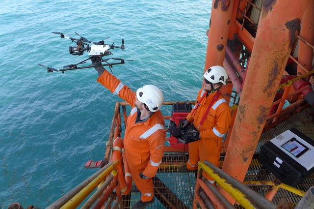 Cyberhawk's advanced drones and related tech are used to inspect the likes of oil rigs, wind turbines and electricity pylons.