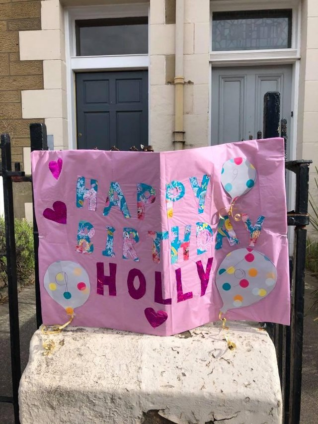 Neighbours rallied round to make a nine-year-old's birthday special during lockdown.