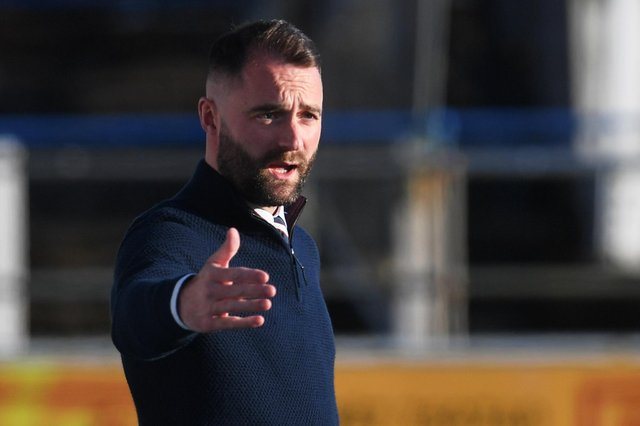 Dundee manager James McPake - his side are in the Premiership play-off final after a 3-1 aggregate win over Raith Rovers.  (Photo by Craig Foy / SNS Group)