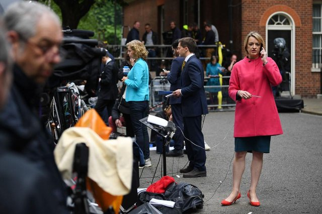 """Speaking about the size of the national debt on Politics Live, Ms Kuenssberg said """"this is the credit card, the national mortgage, everything absolutely maxed out"""" (JUSTIN TALLIS/AFP via Getty Images)"""
