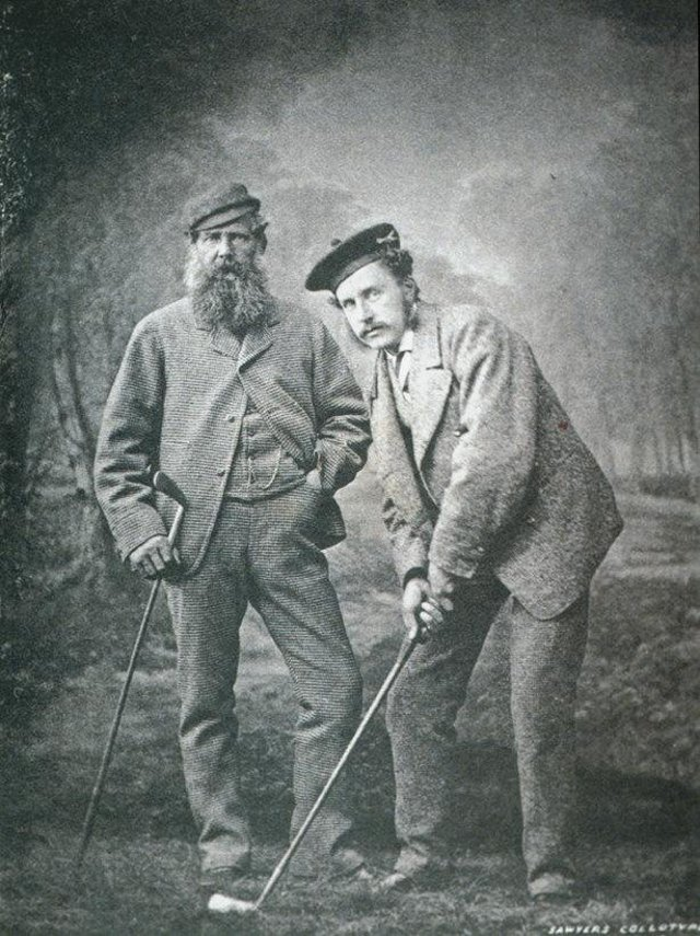 Old Tom Morris and his son, Young Tom. Picture: Phil Sheldon/Getty Images.