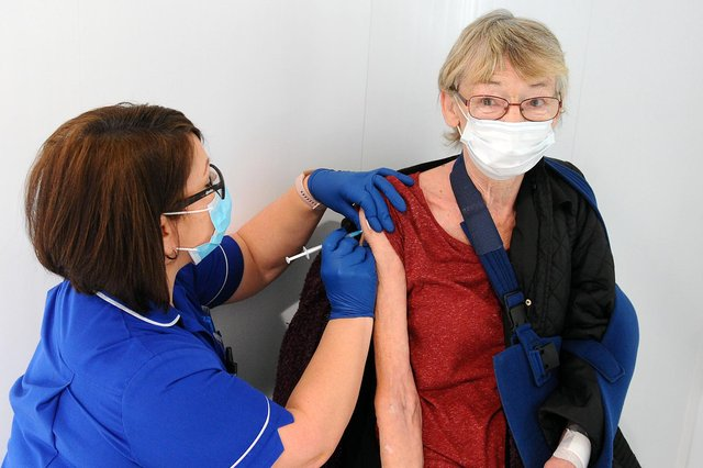 The vaccine programme continues to move forward but cases are still rising.