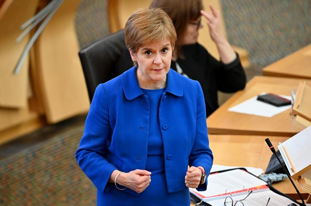 Nicola Sturgeon has been inconsistent over the Covid restrictions and now her government wants to extend emergency powers months before they are due to run out (Picture: Jeff J Mitchell/Getty Images)