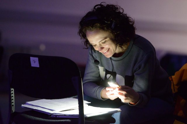 Jemima Levick, in rehearsals for Fibres, a collaboration between Stellar Quines with the Citizens Theatre in Glasgow. PIC: Tim Morozzo