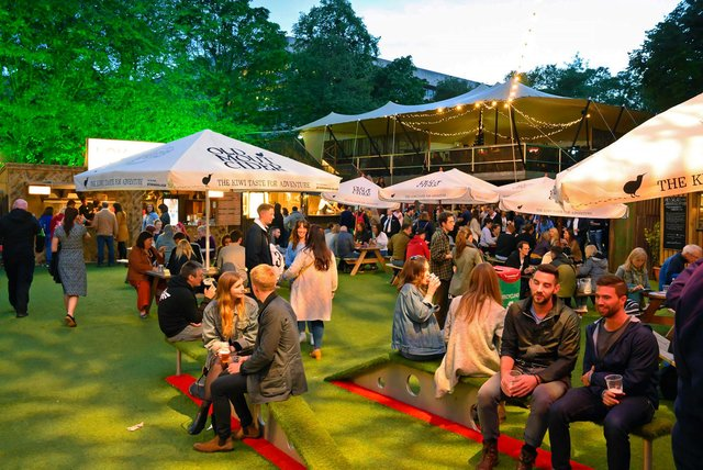 George Square Garden is one of the most populations destinations for Fringe-goers.