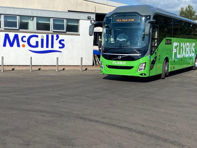 McGill's is pairing up with Flixbus to provide the company's first ever long-distance journey from Scotland to London (Photo: Flixbus).
