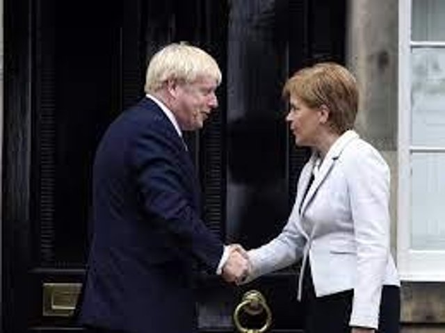 Nicola Sturgeon and Boris Johnson meet at Bute House - but has the notion of a 'family of nations' ebbed away? PIC: PA.