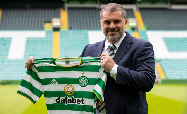 Ange Postecoglou was unveiled as Celtic boss at Parkhead. (Photo by Craig Williamson / SNS Group)