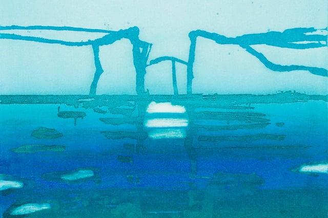 Sea Ice Illulissat (detail) by Barbara Rae
