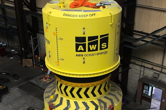 AWS Ocean Energy said the two major sub-assemblies making up its Archimedes Waveswing wave energy converter have been joined together.