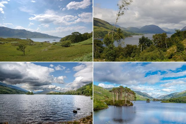 Some of the magical lochside locations used in the Harry Potter films.