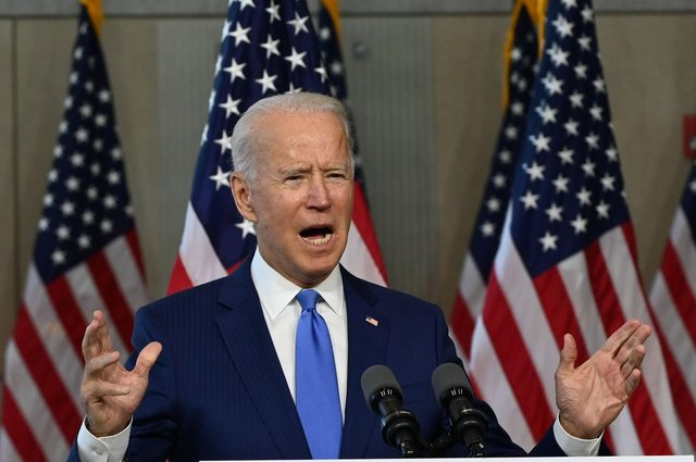 The Democrats' presidential candidate Joe Biden has warned about the possible effect of Brexit on peace in Northern Ireland (Picture: Roberto Schmidt/AFP via Getty Images)