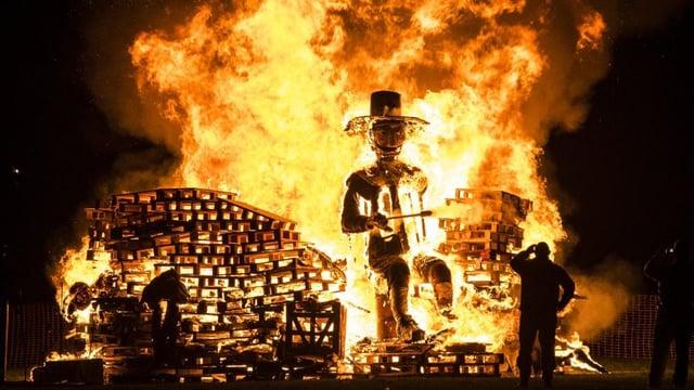 Guy Fawkes effigies are traditionally lit on Bonfire Night to celebrate the foiled Gunpowder Plot (Shutterstock)