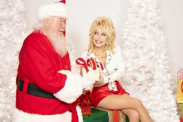 Dolly Parton and friend
