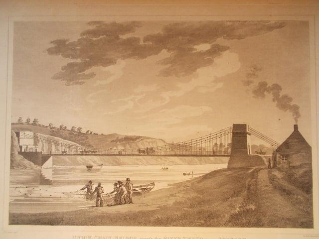 Union Chain Bridge in 1822.