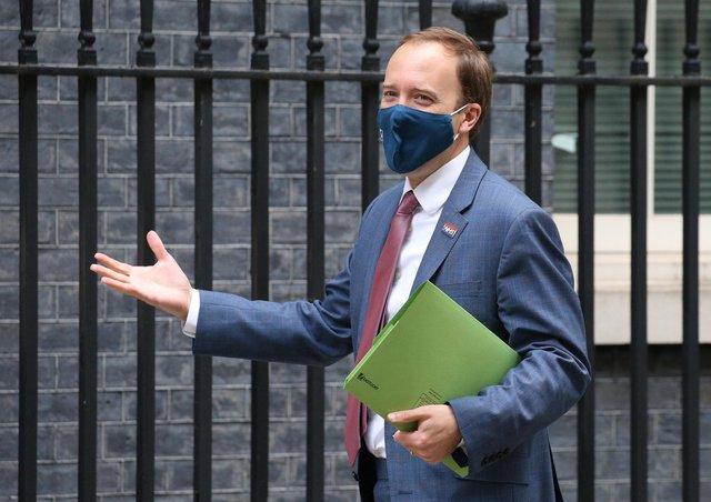 Health Secretary Matt Hancock has said the easing of restrictions in England may be at risk.