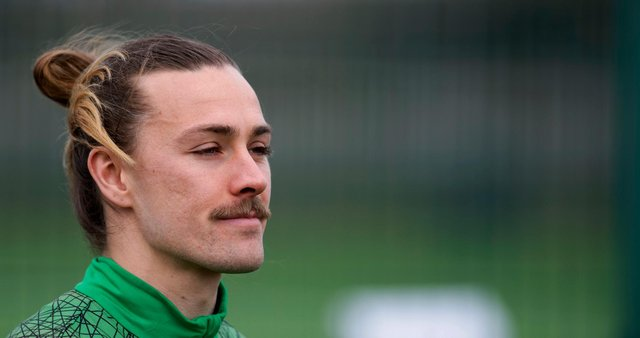 Jackson Irvine has fond memories of his time at Ross County but is now focused on delivering a third-place league finish for Hibs. Photo by Mark Scates / SNS Group