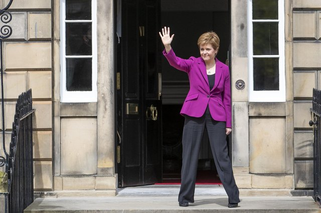 Nicola Sturgeon is set to announce further coronavirus restriction easing from May 17. (Picture credit: Jane Barlow/PA Wire)