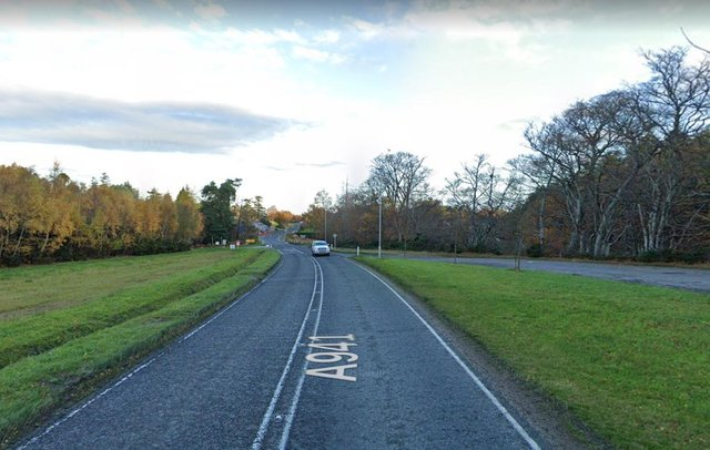 A941 near Elgin, near to where the motorcyclist crashed on Tuesday picture: Google maps