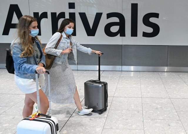 Covid tests for arriving international passengers to the UK were originally due to have been required from Friday. Picture: Daniel Leal-Olivas/AFP/Getty Images