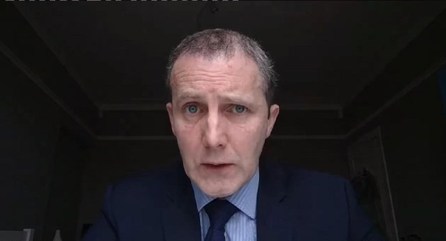 Transport Secretary Michael Matheson addressing Holyrood's connectivity committee today. Picture: Scottish Parliament TV