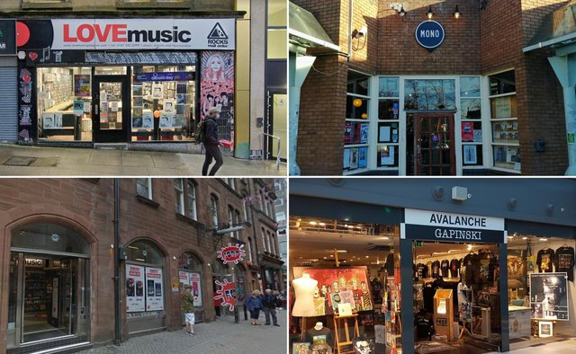 Some of the record shops in Edinburgh and Glasgow that are opening next week.