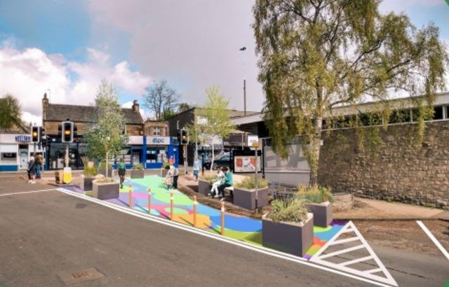 A visualisation of Manse Road at St John's Road