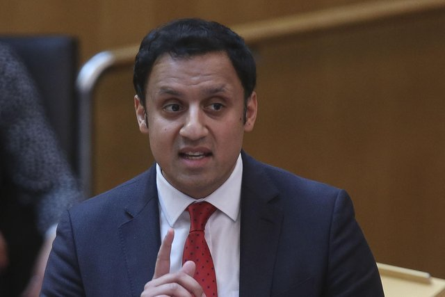 Scottish Labour leader Anas Sarwar during a Covid briefing at the Scottish Parliament in Holyrood. Picture: PA