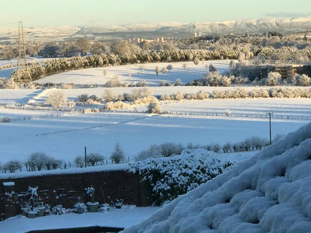 A gorgeous view of the Campsies was caught by this reader from Thorntonhall (Photo: Melanie Scott).