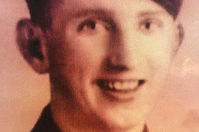 Jimmy Johnstone as a young soldier